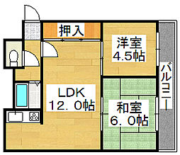 ライブリーハイツ[3階]の間取り