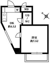 東京都渋谷区恵比寿西2丁目の賃貸マンションの間取り