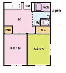 成江ビレッジ[105号室]の間取り