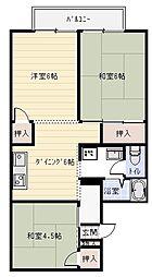 光陽ハイツ[2階]の間取り