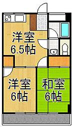 サンフラワーマンション[3階]の間取り
