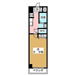 セントラルコート21[4階]の間取り