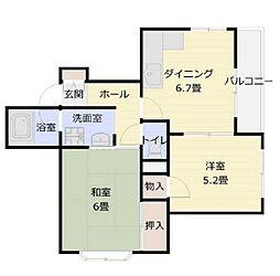 ルネ山本[3階]の間取り