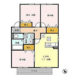メルベーユII[2階]の間取り