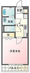 東京都調布市東つつじケ丘1丁目の賃貸マンションの間取り