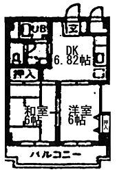 インフォートマンション[4階]の間取り