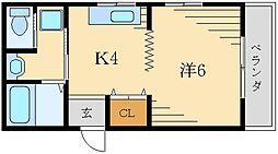 ソレイユK's[3階]の間取り
