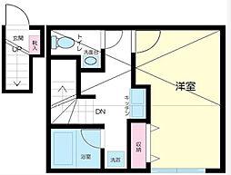 東京都北区王子本町2丁目の賃貸アパートの間取り