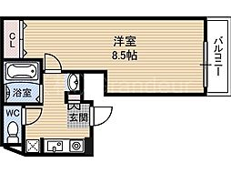 サンエール都島[4階]の間取り