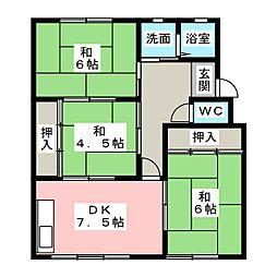 六軒屋農住団地コーポ美園[3階]の間取り
