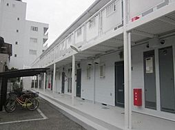 埼玉県草加市松原4丁目の賃貸アパートの外観
