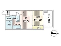 S-RESIDENCE円山表参道 10階1LDKの間取り