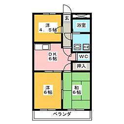 ユートピア[2階]の間取り