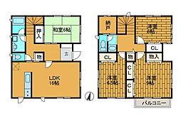 万福寺19街区住宅[1階]の間取り