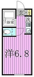 東京都足立区中川4の賃貸アパートの間取り