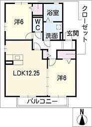 Sunny TerraceIII[2階]の間取り