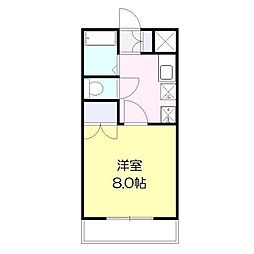 ドムス宮崎[106号室]の間取り