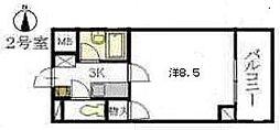 広島県広島市安佐南区高取北1丁目の賃貸マンションの間取り