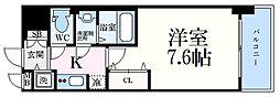 神戸市西神・山手線 上沢駅 徒歩3分の賃貸マンション 5階1Kの間取り