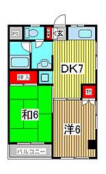 冨澤マンション[1階]の間取り
