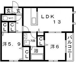 シャーメゾン愛[3階]の間取り