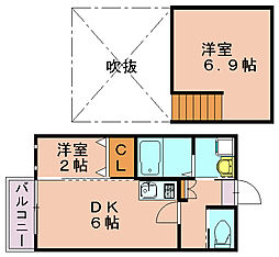 ビータス南福岡[1階]の間取り