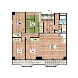サンハイツ穂積[4階]の間取り