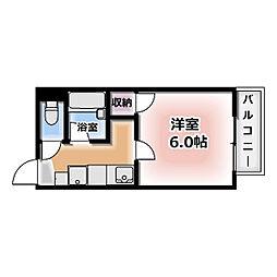 愛知県北名古屋市法成寺の賃貸アパートの間取り