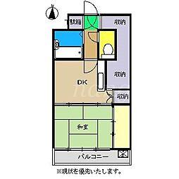 コーポ岩崎[4階]の間取り