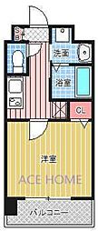 Luxe新大阪III[821号室号室]の間取り