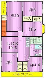 [一戸建] 千葉県松戸市常盤平2丁目 の賃貸【/】の間取り