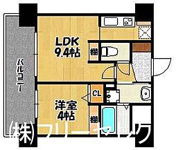 三島マンション博多駅東[3階]の間取り