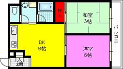 サクシードマエダ[5階]の間取り