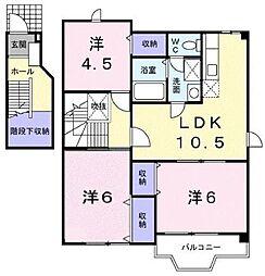 ヴィラグランブルー B棟[2階]の間取り