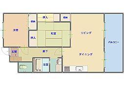 信栄千船ビル[3階号室]の間取り