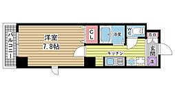 深江本町マンション[703号室]の間取り