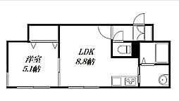 仮称)北16西4 新築MS[2階]の間取り