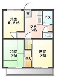 シティメイト柴田[2階]の間取り