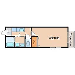 JR東海道本線 清水駅 バス18分 矢崎下車 徒歩1分の賃貸アパート 2階1Kの間取り
