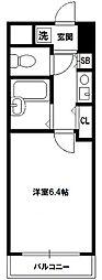 エステムコート新大阪[6階]の間取り