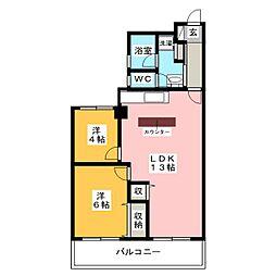 鈴木ビル[6階]の間取り