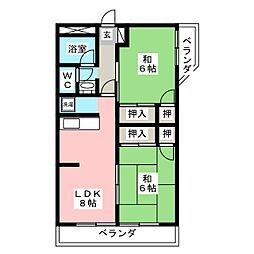 みゆきハイツ A棟[2階]の間取り
