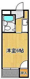 シャトレ藤田 1階1Kの間取り