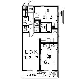 アンジュ新百合ケ丘[2階]の間取り
