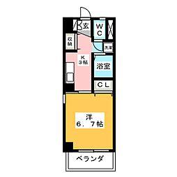 リバーリッチマンション[2階]の間取り