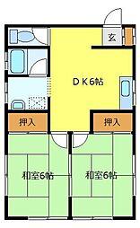 斉藤アパート[2階]の間取り