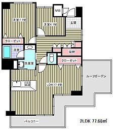 ブルックス神戸[7階]の間取り