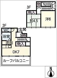 宇佐美マンション[3階]の間取り