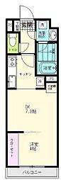 JR仙石線 陸前原ノ町駅 徒歩7分の賃貸アパート 1階1DKの間取り