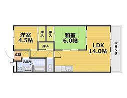 第50長栄ボン・プレミール[3階]の間取り